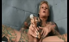 Tatoo Prisoner Masturbation