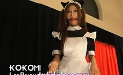 Japanese hot models flashing sexy parts on catwalk