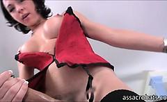 Shemale vixen Danika Dreamz masturbates