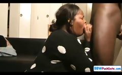 BBW Ebony Deepthroat Swallow