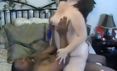 Interracial Fat White Girl and Big Black Cock