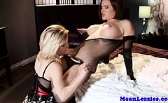 Lezdom mistress licked out by her sub