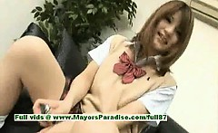 Risa Tsukino innocent chinese girl is a cute schoolgirl