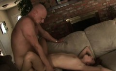 Brunette Teen Taking Cumshot From Dirty Old Man