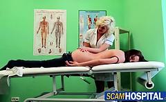 Wild massage with the horny nurse