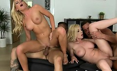 the action keeps getting hotter in this sex party