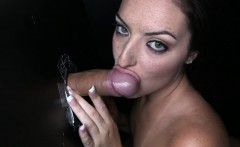 Cum swallowing Nikki Lavay at glory hole