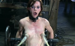 BDSM bondage sub penetrated by machine