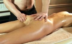 Virgin Masha gets massage