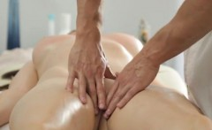 Big melon Russian doll gets a voluptuous massage