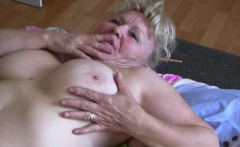 Old granny tescher does strip and fuck with other fat mature