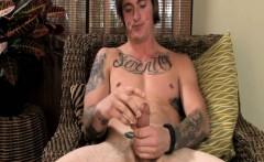 Big Dick Owl Lookin Tattoo Jerk Off