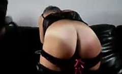 spanking ass of my cock worshipping slave