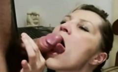 Romanian cougar milking amature cock