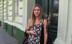 Czech blonde amateur fucked in park in public