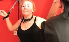 old woman spank chubby butt