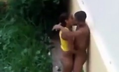 Spying On A Couple Having Sex Outside