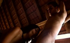 Fervent bawdy cleft spanking