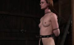 BDSM bonded getting hogtied