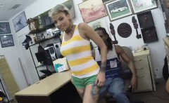 Hot GF nailed in pawn shop office