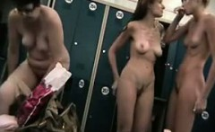 Amateur girls nude in a locker room
