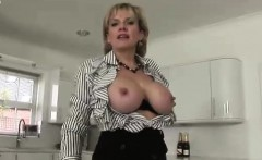 Lady Sonia flashes tits and panties