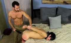 Hot twink scene He paddles the strapped stud until his ass i