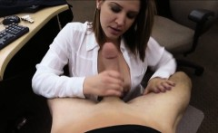 Foxy business lady fucked by pawnkeeper inside the office