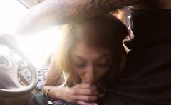 Big boobs amateur teen Sarai nailed with stranger in public