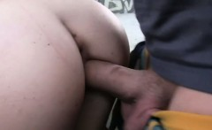 French amateur takes cock outdoor while people passing