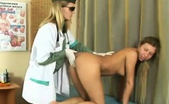 sexy young perky blonde at the doctor