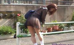 Mikan Amazing Asian schoolgirl enjoys