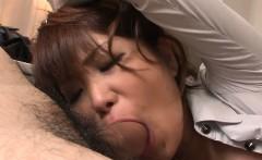 Teen cock loving Yuuno Hoshi is groped by two teachers