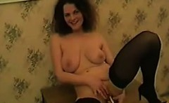 Horny Busty Mother Strips And Masturbates