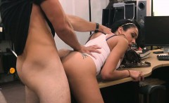 Busty latina pawns pussy and fucked by pawn man for cash