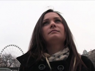 European amateur fucked in public stairways