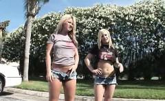 Blonde teen Sluts flashing in public