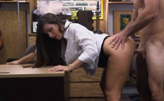 Huge ass amateur brunette babe gets screwed at the pawnshop