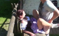 Young german bavarien Teen get fucked outdoor by step-dad