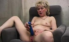 Lonely Granny Vibrating Her Hairy Pussy