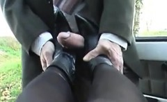 Foot Job With Boots On Point Of View