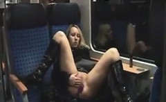Exhibitionist Masturbates On A Train