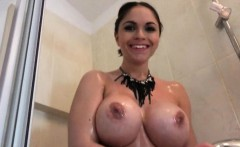Eurobabe Marta Lacroft fucked in the bathroom for money