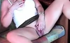 49 years old Gina fingering and cumming