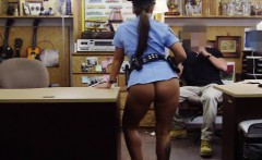 Ms Police Officer pawns her pussy and fucked at the pawnshop