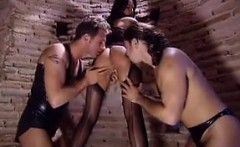 Sexy Brunette Getting Double Penetration