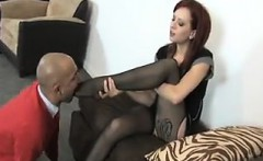 High Heels And Feet Covered In Nylon Worship