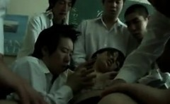 Japanese Teacher In A Gang Bang With Students