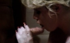 peter north fucks a blonde in shower and cums on her