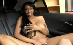 Ebony Chick With Big Tits Fucking In A Car
